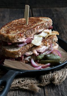 Grilled Reuben Sandwich via @SeasonsSuppers