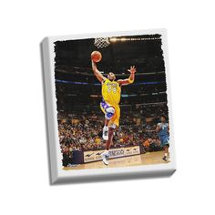 """Steiner Sports Los Angeles Lakers Kobe Bryant Dunk 22"""" x 26"""" Stretched Canvas, Multicolor"""