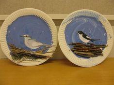 Puikot ja pulpetti - blogi Bird Crafts, Plate Crafts, Nature Crafts, Easy Fall Crafts, Summer Crafts, Diy For Kids, Crafts For Kids, Arts And Crafts, Winter Art Projects