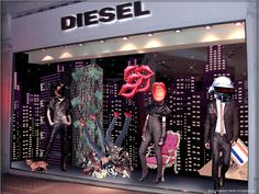 Prop Studios for Diesel | Denim Dating Campaign Windows & In-store VM | #Diesel #Design #RetailWindows #WindowDisplay #RetailInteriors #VM #Windows #Retail