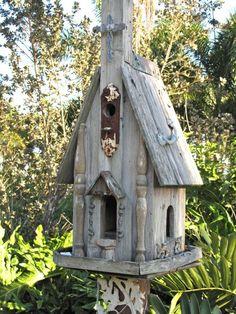 Weird+Bird+Houses   Weird Bird Studio: Bird houses, can you have too many???