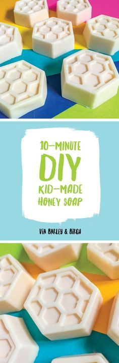 Make: Easy 10-Minute Soap. This Manuka honey soap is a perfect craft for kids and yields a bar that's gentle on baby skin and fragrance free.