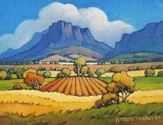 """Boland Mountains with Cloud Cover"" Hannes  van der Walt"