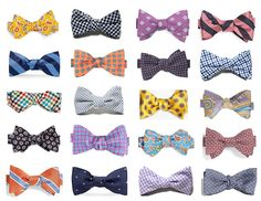 all of the bow tie choices you could ever need for the Derby