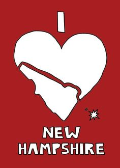 Love this take on the heart! New Hampshire map print