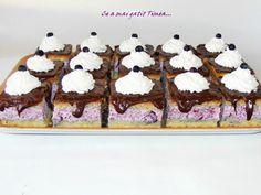 prajitura cu afine Romanian Food, Ice Cream, Sweets, Cooking, Breakfast, Cake, Desserts, Recipes, Cake Recipes
