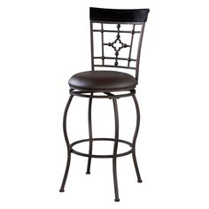 Linon Arial Counter Height Stool - 03277MTL-01-KD-U