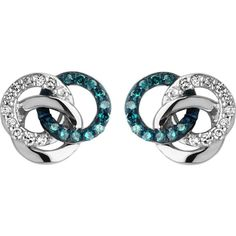 Links Of London Treasured silver and diamond stud earrings (19,435 INR) ❤ liked on Polyvore featuring jewelry, earrings, silver jewellery, butterfly jewelry, silver jewelry, silver butterfly earrings and circle earrings