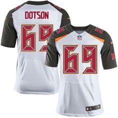 Nike Elite Demar Dotson White Men's Jersey - Tampa Bay Buccaneers #69 NFL Road