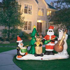 Cool christmas inflatable lightshow