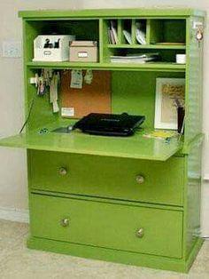 Dresser drop down desk