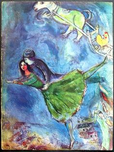 Cover designed by Marc Chagall, ca 1945, Souvenir program for Ballet Russe.