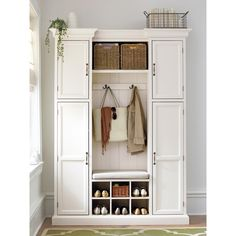 Home Decorators Collection Royce Polar White Hall Tree 7474210410 - The Home Depot Cottage Bedroom Decor, Bedroom Décor, Bedroom Retreat, Armoire Entree, Entryway Storage Cabinet, Mudroom Organizer, White Hall Tree, Coat Storage, Shoe Storage