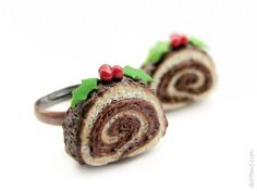 Christmas Yule Log Cake Ring by ~allim-lip on deviantART