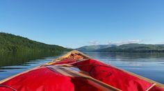 Pre work paddle on the lake #canoe #lakes #goodlife