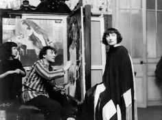Chagall paints his wife, Bella (née Rosenfeld), at his Paris atelier as his daughter, Ida, watches on. Behind him is Birthday. Photograph: Ullstein Bild via Getty Images Marc Chagall, Pablo Picasso, Matisse, Amédéo Modigliani, Léon Bakst, Chagall Paintings, Art Gallery, Art Français, Falling For Someone