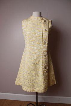 Vintage 1960's Beeline Fashions Yellow Dress by urbaneccentric