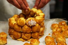 Beautiful Choux pastry filled with creme patissiere and drizzled with delicious toffee. No worries!!!