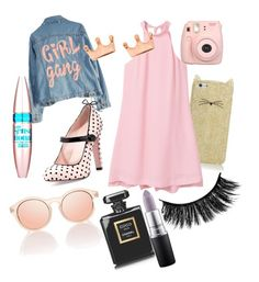 """""""Everything girly ✨Best outfit ever ✨"""" by beatrix04 on Polyvore featuring moda, High Heels Suicide, RED Valentino, Fujifilm, Kate Spade, MANGO, Chanel, Maybelline, Mminimal e MAC Cosmetics"""