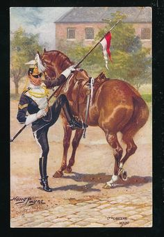 (The Duke of Cambridge's Own) Lancers. Mount, by H. Military Insignia, Military Art, Military History, Military Uniforms, British Army Uniform, British Uniforms, British Armed Forces, Le Far West, American Soldiers