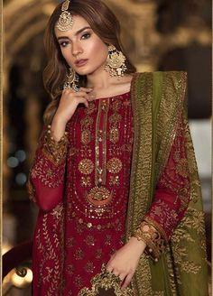 Pakistani Fashion Party Wear, Pakistani Wedding Outfits, Pakistani Dress Design, Pakistani Dresses, Indian Dresses, Indian Outfits, Latest Pakistani Fashion, Pakistani Bridal, Indian Clothes