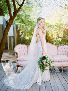 The prettiest rustic bridal look: http://www.stylemepretty.com/arizona-weddings/phoenix/2016/04/28/this-intimate-wedding-will-tug-right-at-your-heartsrings/ | Photography: Michael + Anna Costa - http://www.michaelandannacosta.com/