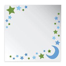 Studio Arts Night Sky Collection 12-Inch x 12-Inch Moon & Star Printed Mirror-buybuy BABY