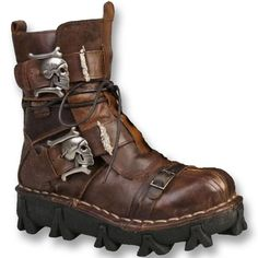 Fashion Cowhide Genuine Leather Military Uniform Boots Gothic Skull Punk Martin Platform Mid-calf Boots Steampunk Shoes - B E S T Online Marketplace - SaleVenue Leather Gifts, Handmade Leather, Steampunk Shoes, Converse Sneaker, Motorcycle Boots, Biker Boots, Biker Accessories, Mid Calf Boots, Shoe Boots