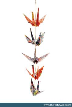 how to glue and space cranes Origami Garland, Hanging Origami, Origami Paper Art, Diy Origami, Paper Crafts, Diy Crafts, Origami Birds, Origami Cranes, Origami Ideas