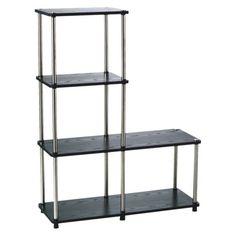 Under The Stairs Storage Closet...Multi Tier Bookshelf  - Black.Opens in a new window