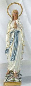 16 Inch Our Lady of the Rosary Pearlized Statue