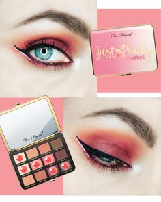 Just Peachy Mattes Too Faced : Avis et makeup look - http://www.mademoisellestef.com/just-peachy-mattes-too-faced-avis/