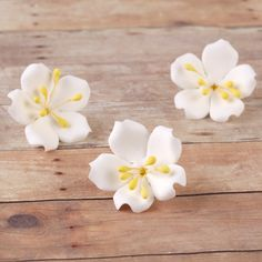 Jasmine SugarFlowers made from gumpaste perfect as cake toppers and cupcake toppers cake decorations.   CaljavaOnline.com