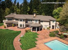 Northwest Portland Estate #luxury #homes #house #architecture #backyard #pool #design #home #landscaping