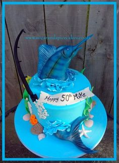 Man in boat fishing cake Fishing and Camping Pinterest