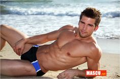 Your Hunk of the Day: Kyle Tiringer Male Pinup, Top Male Models, American Guy, Men Beach, Beach Guys, Hot Hunks, Shirtless Men, Male Body, Beautiful Men