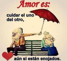 Amor es: cuidar el uno del otro aún si están enojados