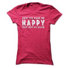 Happy and Shih Tzu T-Shirts, Hoodies. GET IT ==► Funny Tee Shirts