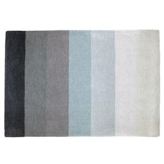 "Grey ombre ""Broad Stripe"" rug from Land of Nod, 4 x 6 is $249.00"