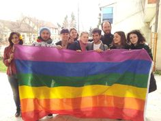 Bigger Rainbow flags used in Macedonia.