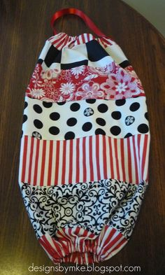 Mandy's Krafty Exploits: Grocery Bag Holder. I made one similar to this and they are great for storing bags!