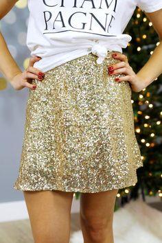 Lucky You Skirt - Gold