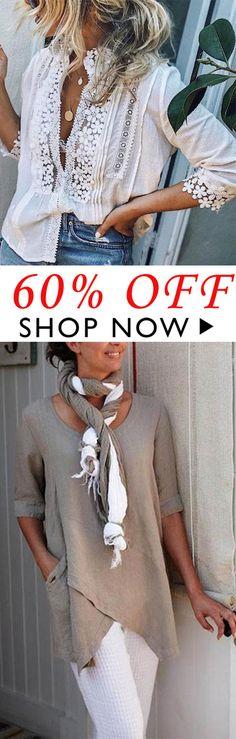 women's tops and blouses - Woman Shirts Boho Fashion, Fashion Outfits, Womens Fashion, Mode Outfits, Casual Outfits, Mode Xl, Moda Boho, Blouses For Women, Women's Blouses