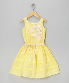 Take a look at this Yellow Butterfly A-Line Dress - Toddler & Girls by Trish Scully Child on #zulily today!