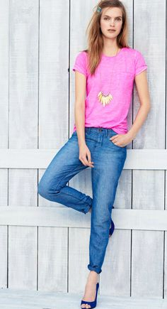 Madewell pink + jeans