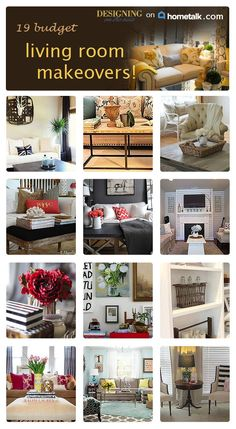 Beautiful living room makeovers on a budget!