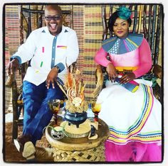Traditional african wedding dress, african wedding gown, traditional outfits, traditional attire, wooden his and hers chairs. Zulu Wedding, Chic Wedding, Wedding Styles, Wedding Gowns, Wedding Themes, African Traditional Wedding, Traditional Wedding Dresses, Traditional Outfits, Celebrity Gowns