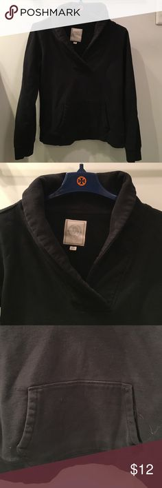 Merona brand black sweatshirt with collar size M Nice sweatshirt from MERONA in size M. Black with shawl collar and kangaroo pocket. Gently used. Merona Tops Sweatshirts & Hoodies