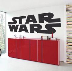 Star Wars Space Fleet Battle Wall Sticker Mural Decal Removable Paper Print Gift
