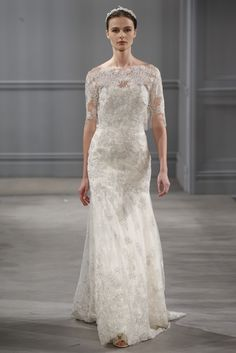 Really, Really Pretty Wedding Dresses from the Spring Bridal Shows: Monique Lhuilllier